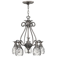 Hinkley 4885PL Plantation 5 Light 22 inch Polished Antique Nickel Foyer Chandelier Ceiling Light