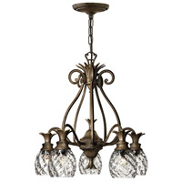 Hinkley 4885PZ Plantation 5 Light 22 inch Pearl Bronze Foyer Chandelier Ceiling Light