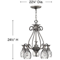 Hinkley 4885PL Plantation 5 Light 22 inch Polished Antique Nickel Chandelier Ceiling Light alternative photo thumbnail
