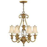 Hinkley 4886BB Plantation 7 Light 28 inch Burnished Brass Chandelier Ceiling Light