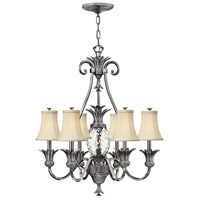 Hinkley 4886PL Plantation 7 Light 28 inch Polished Antique Nickel Chandelier Ceiling Light