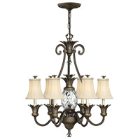 Hinkley 4886PZ Plantation 7 Light 28 inch Pearl Bronze Chandelier Ceiling Light