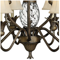 Hinkley 4887PZ Plantation 10 Light 33 inch Pearl Bronze Foyer Chandelier Ceiling Light, 2 Tier alternative photo thumbnail