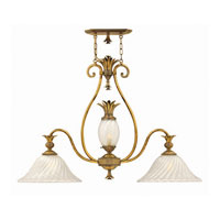 Hinkley Plantation Island 2Lt Chandelier in Burnished Brass 4888BB