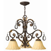 Hinkley Lighting Veranda 3 Light Chandelier in Summerstone 4892SU photo thumbnail