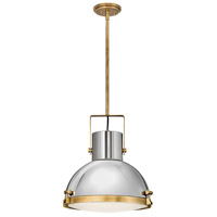 Hinkley 49065HB Nautique 1 Light 18 inch Heritage Brass/Polished Nickel Pendant Ceiling Light