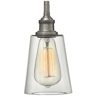 Hinkley 4937PL Gatsby 1 Light 5 inch Polished Antique Nickel Mini-Pendant Ceiling Light, Clear Glass alternative photo thumbnail