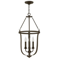 Hinkley 4943TZ Fenmore 3 Light 15 inch Textured Bronze Foyer Light Ceiling Light