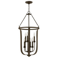 Hinkley 4946TZ Fenmore 6 Light 17 inch Textured Bronze Foyer Light Ceiling Light