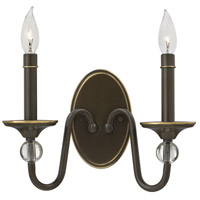 Hinkley 4952LZ Eleanor 2 Light 13 inch Light Oiled Bronze Sconce Wall Light