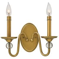 Eleanor 2 Light 13 inch Heritage Brass Sconce Wall Light