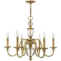 Hinkley 4956HB Eleanor 6 Light 27 inch Heritage Brass Chandelier Ceiling Light