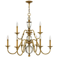 Eleanor 9 Light 35 inch Heritage Brass Foyer Chandelier Ceiling Light