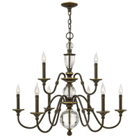 Eleanor 9 Light 35 inch Light Oiled Bronze Chandelier Ceiling Light