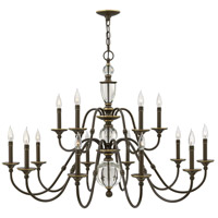 Eleanor 15 Light 44 inch Light Oiled Bronze Foyer Chandelier Ceiling Light