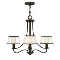 Hinkley 4964OB Prescott 4 Light 24 inch Olde Bronze Chandelier Ceiling Light