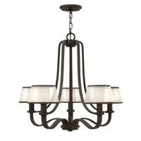 Hinkley 4965OB Prescott 5 Light 28 inch Olde Bronze Chandelier Ceiling Light