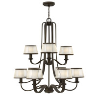 Hinkley 4968OB Prescott 9 Light 32 inch Olde Bronze Chandelier Ceiling Light