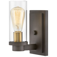 Hinkley 4970OZ Midtown 1 Light 5 inch Oil Rubbed Bronze Sconce Wall Light