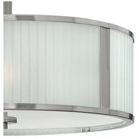 Hinkley 4971BN Midtown 3 Light 18 inch Brushed Nickel Foyer Semi-Flush Mount Ceiling Light alternative photo thumbnail