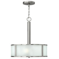 Hinkley 4972BN Midtown 3 Light 18 inch Brushed Nickel Chandelier Ceiling Light