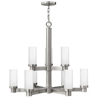 Hinkley 4978BN Midtown 9 Light 32 inch Brushed Nickel Chandelier Ceiling Light