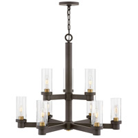 Hinkley 4978OZ Midtown 9 Light 32 inch Oil Rubbed Bronze/Heritage Brass Chandelier Ceiling Light