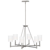 Hinkley 4985PN Buchanan 6 Light 28 inch Polished Nickel Chandelier Ceiling Light, Single Tier