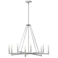 Hinkley 4988PN Buchanan 8 Light 38 inch Polished Nickel Chandelier Ceiling Light, Single Tier