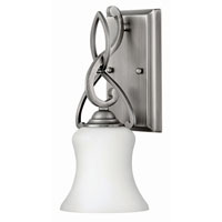 Hinkley 5000AN-GU24 Brooke 1 Light 5 inch Antique Nickel Bath Wall Light in GU24, Etched Opal Glass