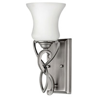 Brooke 1 Light 5 inch Antique Nickel Bath Vanity Wall Light in LED, Etched Opal Glass