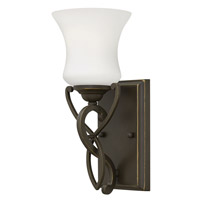 Hinkley 5000OB-GU24 Brooke 1 Light 5 inch Olde Bronze Bath Vanity Wall Light in GU24, Etched Opal Glass