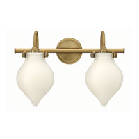 Hinkley 50022BC Congress 2 Light 19 inch Brushed Caramel Bath Wall Light, Retro Glass