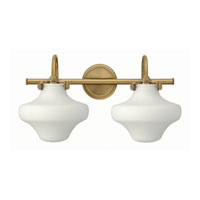 Hinkley 50025BC Congress 2 Light 20 inch Brushed Caramel Bath Wall Light, Retro Glass