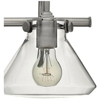 Hinkley 50026AN Congress 2 Light 19 inch Antique Nickel Bath Light Wall Light, Retro Glass alternative photo thumbnail