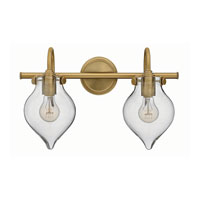 Congress 2 Light 19 inch Brushed Caramel Bath Wall Light, Retro Glass
