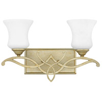 Silver Leaf Metal Bathroom Vanity Lights
