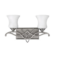 Hinkley 5002AN-LED Brooke 2 Light 17 inch Antique Nickel Bath Vanity Wall Light in LED, Etched Opal Glass