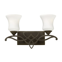 Hinkley 5002OB-GU24 Brooke 2 Light 17 inch Olde Bronze Bath Vanity Wall Light in GU24, Etched Opal Glass