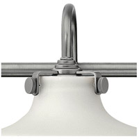 Hinkley 50035AN Congress 3 Light 30 inch Antique Nickel Bath Light Wall Light, Retro Glass alternative photo thumbnail