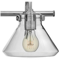 Hinkley 50036CM Congress 3 Light 30 inch Chrome Bath Light Wall Light, Retro Glass alternative photo thumbnail