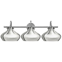 Congress 3 Light 31 inch Chrome Bath Wall Light, Retro Glass