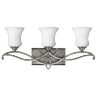 Brooke 3 Light 24 inch Antique Nickel Bath Vanity Wall Light in LED, Etched Opal Glass
