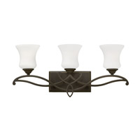 Hinkley Lighting Brooke 3 Light Bath Vanity in Olde Bronze with Etched Opal Glass 5003OB-LED