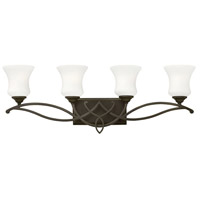 Hinkley 5004OB Brooke 4 Light 31 inch Olde Bronze Bath Light Wall Light in Incandescent