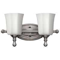 Shelly 2 Light 16 inch Brushed Nickel Bath Light Wall Light