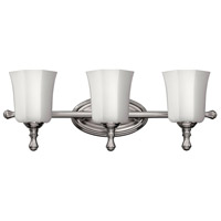 Shelly 3 Light 24 inch Brushed Nickel Bath Light Wall Light