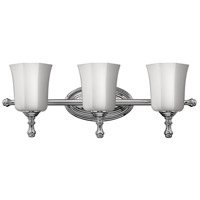 Shelly 3 Light 24 inch Chrome Bath Vanity Wall Light