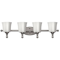 Shelly 4 Light 32 inch Brushed Nickel Bath Light Wall Light