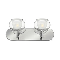 Hinkley 50202CM Katia 2 Light 18 inch Chrome Bath Wall Light